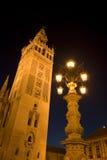 El Giralda en Sevilla Imágenes de archivo libres de regalías