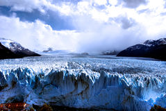 el-glaciärmoreno perito Arkivfoto