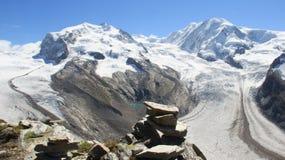 El glaciar ajardina a Frosty With Sunlight fotografía de archivo libre de regalías