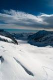 El glaciar de Aletsch en el Jungfraujoch Imágenes de archivo libres de regalías