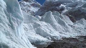 El glaciar de Khumbu almacen de video
