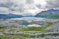 El glaciar de Matanuska Imagen de archivo