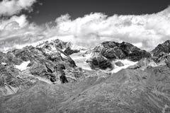 El glaciar de Stevio Foto blanco y negro de Pekín, China Imagen de archivo