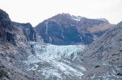 El glaciar del Fox/Te Moeka o Tuawe es 13 8 milómetro-largos 1 glaciar marítimo templado del MI situado en Westland Tai Poutini fotos de archivo