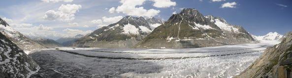 El glaciar más grande de Europa Imagen de archivo