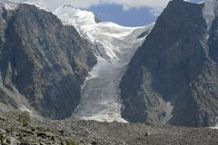 El glaciar Myushtu-Ayry Imagen de archivo