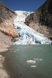 El glaciar noruego Fotos de archivo