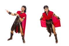 El gladiador aislado en blanco Imagen de archivo libre de regalías