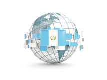 El globo con la bandera de Guatemala aisló en blanco Fotografía de archivo libre de regalías