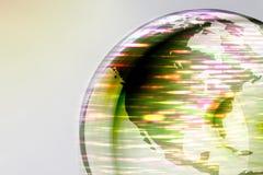 El globo de la tierra enciende 2 Imagenes de archivo