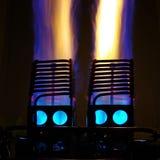 El globo del aire caliente flamea 3 imagen de archivo