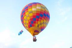 El globo del aire caliente photgrphed en el Bealton, demostración de aire del circo del vuelo del VA Foto de archivo