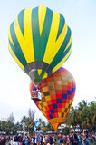 El globo del aire caliente photgrphed en el Bealton, demostración de aire del circo del vuelo del VA Imagen de archivo