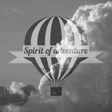 El globo del aire caliente photgrphed en el Bealton, demostración de aire del circo del vuelo del VA Ilustración del Vector