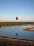 El globo del aire caliente photgrphed en el Bealton, demostración de aire del circo del vuelo del VA Fotografía de archivo
