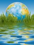 El globo en una hierba verde. Imagenes de archivo