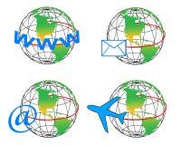 El globo y la comunicación Foto de archivo libre de regalías