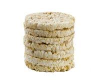 El gluten del ? de las galletas del arroz libera, aislado Foto de archivo