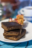El gluten libera el brownie imágenes de archivo libres de regalías