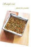 El gluten libera el granola Foto de archivo libre de regalías