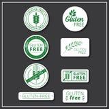 El gluten libera etiquetas engomadas Ilustración del Vector