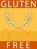 El gluten libera la escritura de la etiqueta Fotografía de archivo libre de regalías