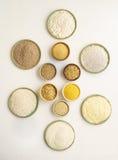 El gluten libera las harinas Fotografía de archivo libre de regalías