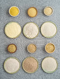 El gluten libera las harinas Fotografía de archivo