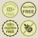 El gluten libera los sellos Imágenes de archivo libres de regalías
