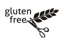 El gluten libera símbolo Imagen de archivo