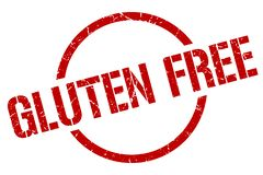 El gluten libera el sello stock de ilustración