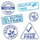 El gluten libera sellos ilustración del vector