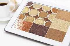 El gluten sano libera granos Foto de archivo