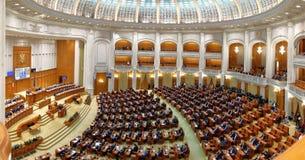 El gobierno rumano llevó por Sorin Grindeanu - rumano Parliamen foto de archivo libre de regalías
