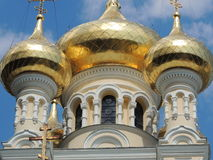 El Golden Dome de la catedral Yalta, Crimea Imagen de archivo