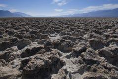 El golf Couse, Death Valley, CA del diablo Imagen de archivo