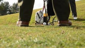 El golf que juega de dos menen Majorca almacen de video