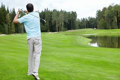 El Golfing Fotografía de archivo libre de regalías