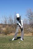El Golfing del hombre Imagenes de archivo
