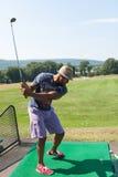 El Golfing en la gama Imagenes de archivo