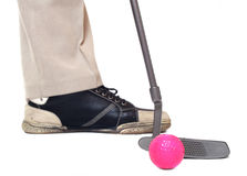 El golfista. Foto de archivo