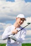 el golfista muestra que todo está bien Foto de archivo