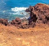 EL Golfo - érosion, couleur et texture minérales photographie stock