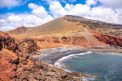 EL Golfo - érosion, couleur et texture minérales image libre de droits