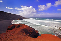 El Golfo bay, Western Lanzarote Royalty Free Stock Photography