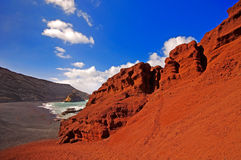 El Golfo bay, Western Lanzarote Royalty Free Stock Photos