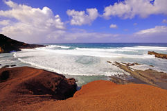 El Golfo bay, Western Lanzarote Stock Photos