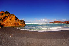 El Golfo bay, Western Lanzarote Royalty Free Stock Photo