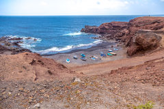 El Golfo beach royalty free stock photography