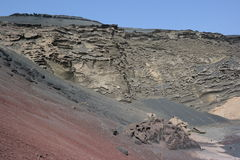 El golfo cliffs, lanzarote, canaria islands Stock Photography